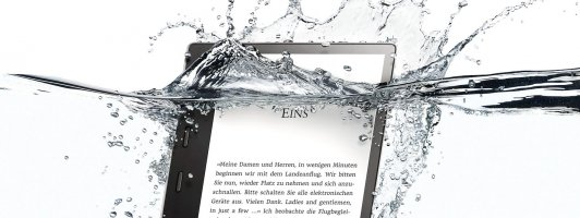 Wasserfest: Der neue Kindle Oasis (9. Modellgeration / Foto: Amazon)