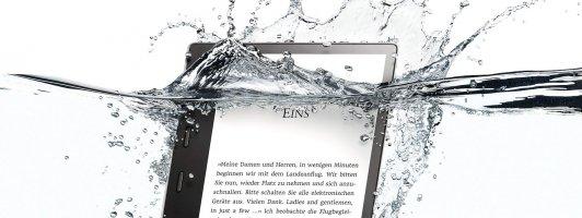 Wasserfest: Der neue Kindle Oasis (9. Modellgeration / Foto: Amazon)
