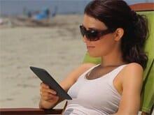 Kindle Lektüre am Strand