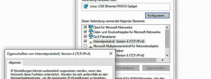 Windows: Der Kindle wird wie ein Netzwerk verbunden.