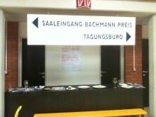 Bachmann-Preis: Eingangsbereich