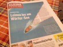 """Die Kleine Zeitung mit Bachmann-Aufmacher: """"Warum das Wettlesen schon immer für Aufsehen sorgte…"""""""