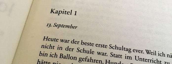 Erste Seite des Romans »Wie ich fälschte, log und Gutes tat« von Thomas Klupp