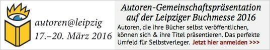Autoren-Gemeinschaftspräsentation auf der Leipziger Buchmesse 2016