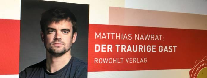Preis der Leipziger Buchmesse 2019 für Matthias Nawrat?