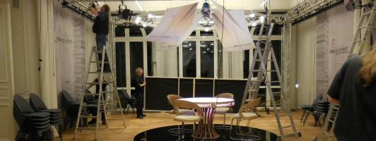 Alles vorbei: Die Deko im Palais Biron wird abgebaut (Foto: Wolfgang Tischer)