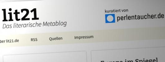 lit21.de - Das literarische Metablog, kuratiert vom Perlentaucher.de