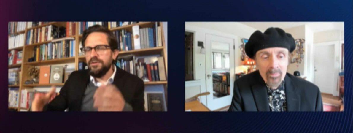 Phillip Schwenke in Berlin spricht mit T. C. Boyle in Kalifornien