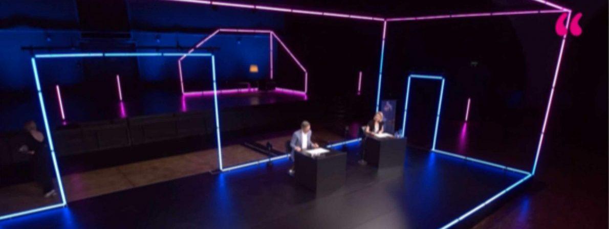 Das surrealistisch anmutende Theater am Tanzbrunnen, das die ideale Bühne für die meisten Events bot (Foto:Screenshot)