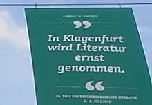 Zitat von Katrin Passig in der Fußgängerzone: »In Klagenfurt wird Literatur ernst genommen.«