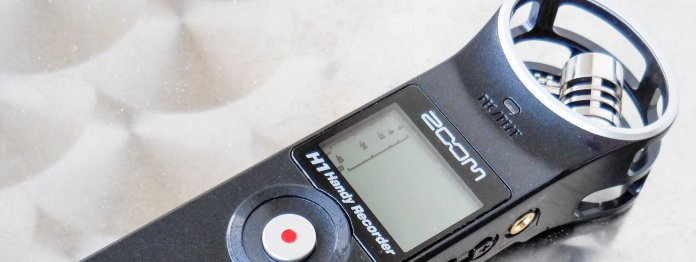 Zoom H1: Ideal zur Aufnahme von Interviews.