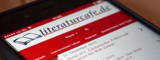 literaturcafe.de auf dem Smartphone
