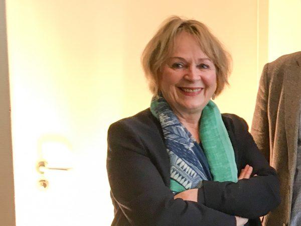Verlegerin Antje Kunstmann (Kunstmann Verlag) auf der Tagung des Deutschen Literaturfonds in Leipzig