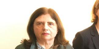 Die Autorin und Büchnerpreisträgerin Sibylle Lewitscharoff auf der Tagung des Deutschen Literaturfonds in Leipzig