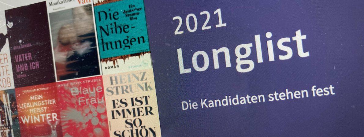 Longlist zum Deutschen Buchpreis 2021