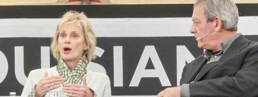 Siri Hustvedt und Paul Auster im Gespräch (Foto: Jana Groß)