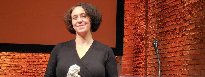 Lucy Fricke nach dem Gewinn des Bayerischen Buchpreises 2018 für »Töchter«