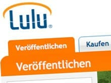 Lulu-Logo auf der Website von lulu.com