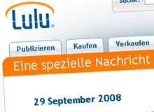 Wirtschaftskrise erreicht die Print-on-Demand-Branche: Lulu.com erhöht die Endkundenpreise