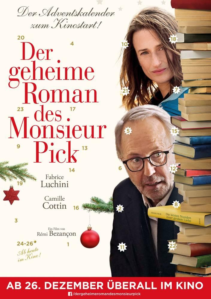 Der geheime Roman des Monsieur Pick: Ausschnitt aus dem Filmplakat - und Adventskalender (Foto: Neue Visionen Filmverleih)