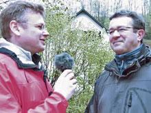 Interview mit Manuel Andrack (rechts im Bild)