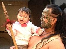 Maori mit Tochter