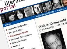 literaturportal.de: Wenigstens Walter Kempowski ist tot