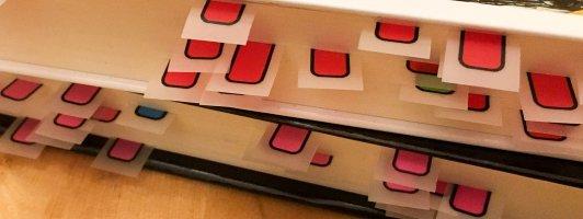 Marker in Büchern