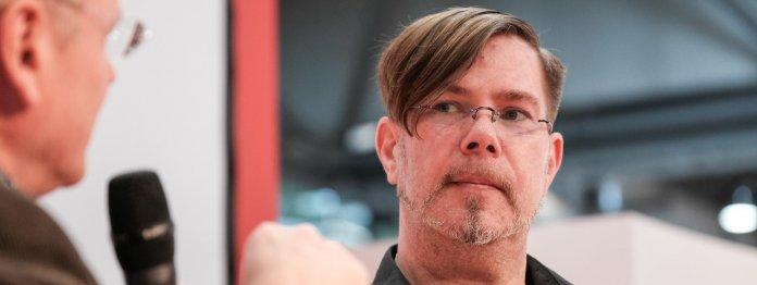 Bestseller-Autor Markus Heitz im Gespräch mit Wolfgang Tischer vom literaturcafe.de (Foto: Birgit-Cathrin Duval)