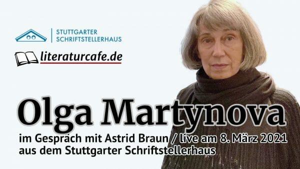 Am 8. März 2021 live aus dem Stuttgarter Schriftstellerhaus: Olga Martynova im Gespräch (Foto: Stuttgarter Schriftstellerhaus)