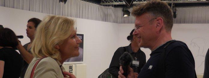 Bürgermeisterin Maria-Luise Mathiaschitz im Gespräch mit Wolfgang Tischer