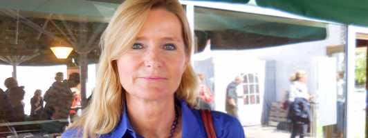 Literaturkritikerin Meike Feßmann auf der Narrativa in Frankfurt (Foto: Tischer)