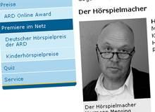 Hörspiel von Hermann Mensing für den ARD-Wettbewerb »Premiere im Netz« nominiert