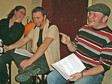 Lesebühne LÄNGS: Liefka Würdemann, Thomas Nast, Jörg Schwedler (von links)