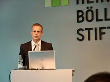 Rechtsanwalt Niels Rauer erläuterte das Google Book Settlement