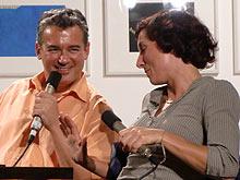 Ilija Trojanow und Juli Zeh bei der Präsentation ihres Buches im Stuttgarter Literaturhaus