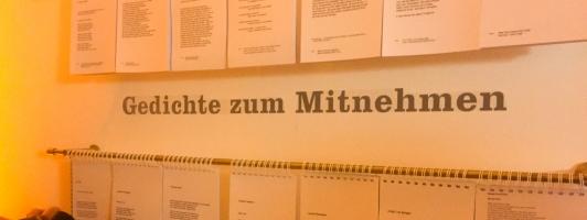 Gedichte zum Mitnehmen auf dem S. Fischer Verlagsfest