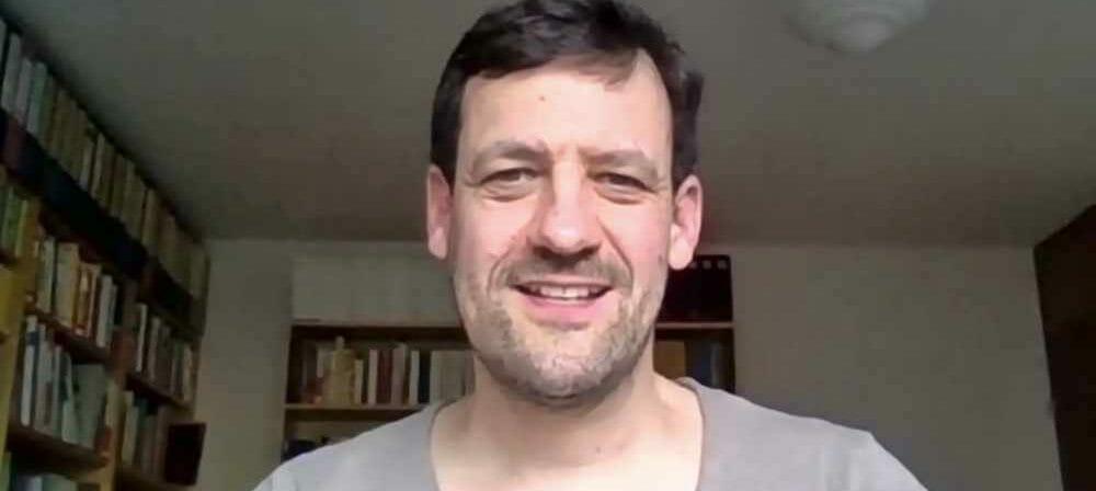 Moritz Heger beim Podcast-Gespräch via Zoom