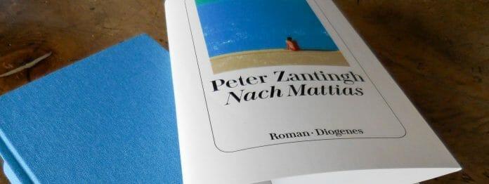 Feine Buchgestaltung in Blau: »Nach Mattias« von Peter Zantingh