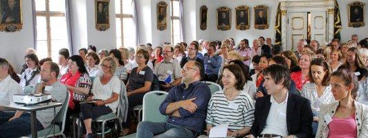 Das Publikum der Narrativa im Fürstentrakt des Klosters Andechs (Foto: Heike Bogenberger)