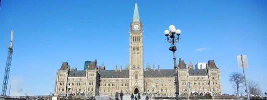 Kanadisches Parlamentsgebäude in Ottawa