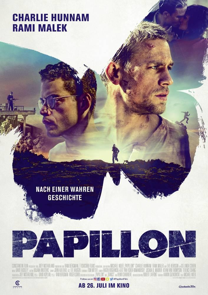 Filmplakat: Papillon (2018) im Verleih der Constantin Film