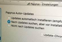 Papyrus Autor 8.5 aktualisiert sich endlich selbst