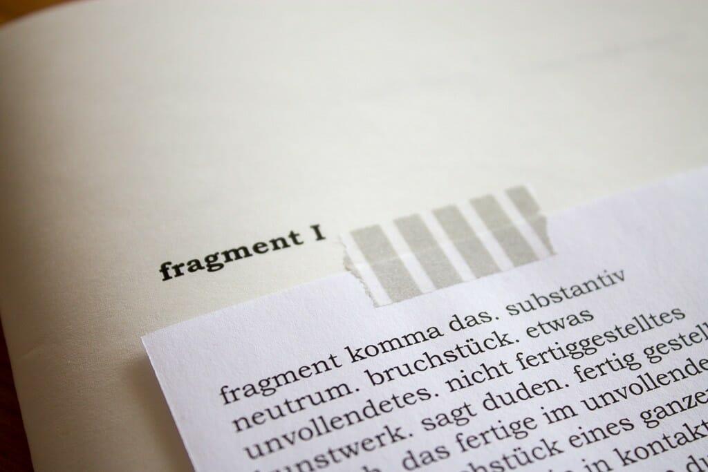 fragment I von Sophie Paulchen