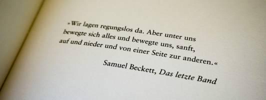 Roman-Motto von Samuel Beckett