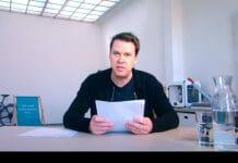 Jörg Piringer bei seiner Lesung (Foto: Screenshot/ORF)