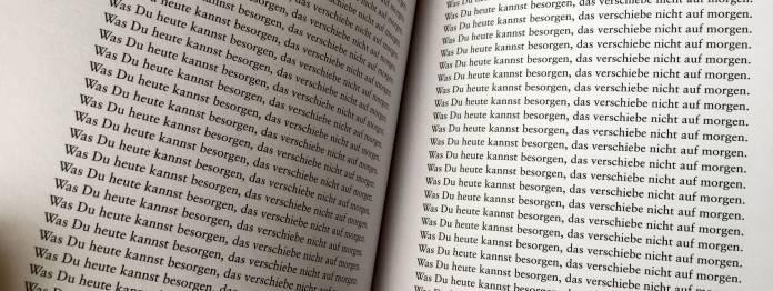 Auschnitt aus dem Buch »Was du heute kannst besorgen, …« von Jack Torrance