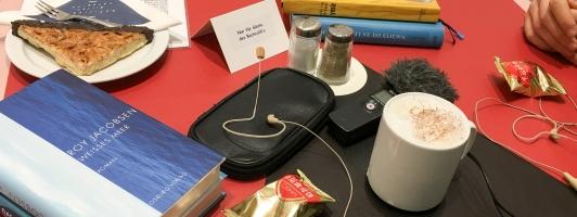 Das mobile Podcast-Studio auf den Stuttgarter Buchwochen