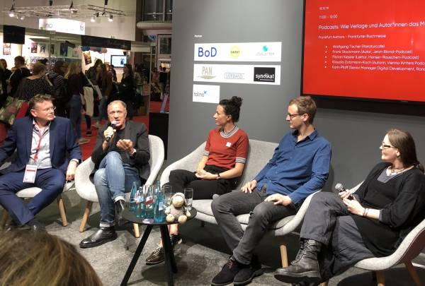 Podcast-Diskussion auf der Frankfurter Buchmesse 2019