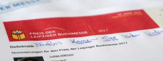 Preis der Leipziger Buchmesse 2017 - Belletristik